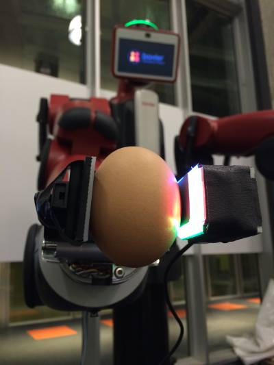Fingertip GelSight Sensor grasping an egg 2